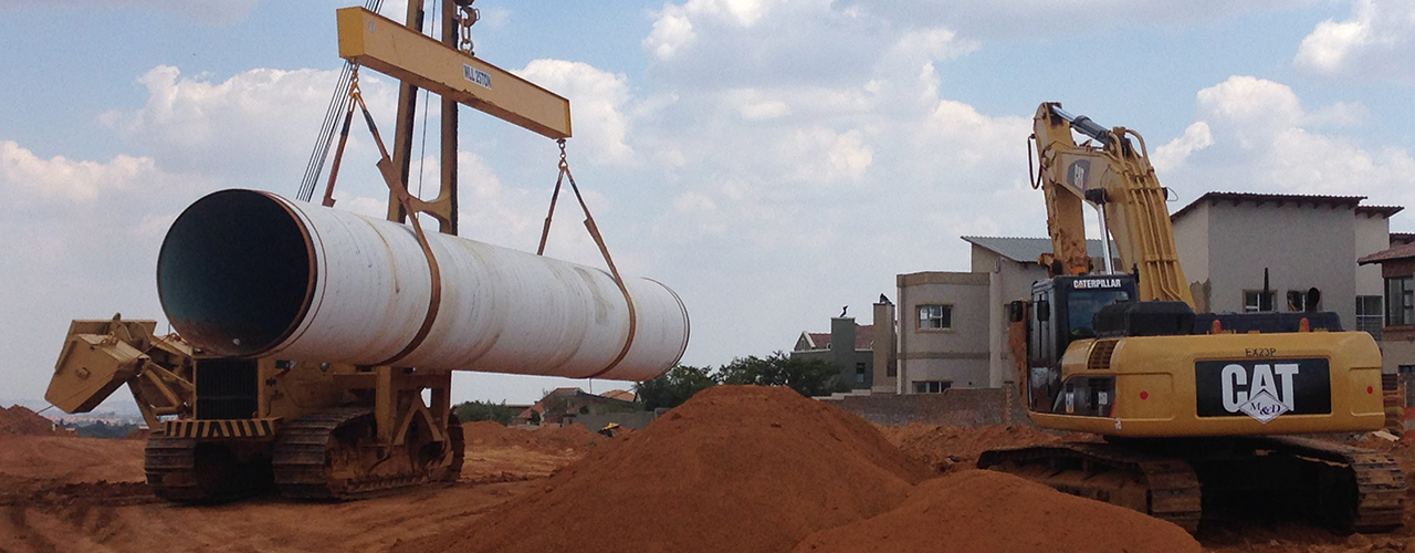 Pipe Laying | Murray & Dickson Construction (Pty) Ltd
