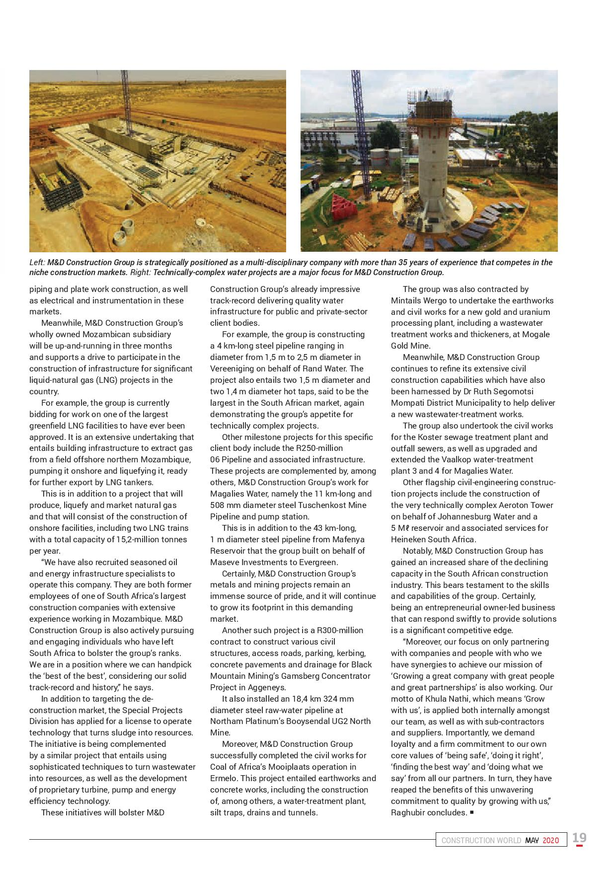 New focus on niche construction markets Pg2